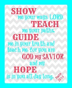 Psalm 25 4-5